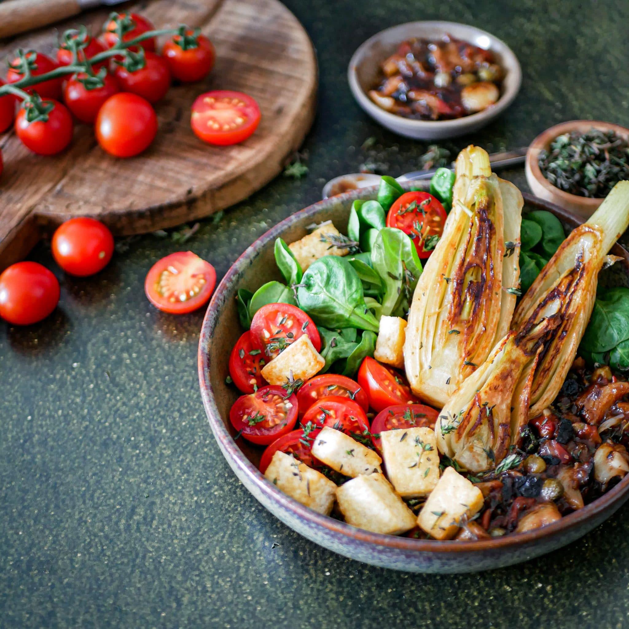 fenouil braisé aux câpres et aux olives